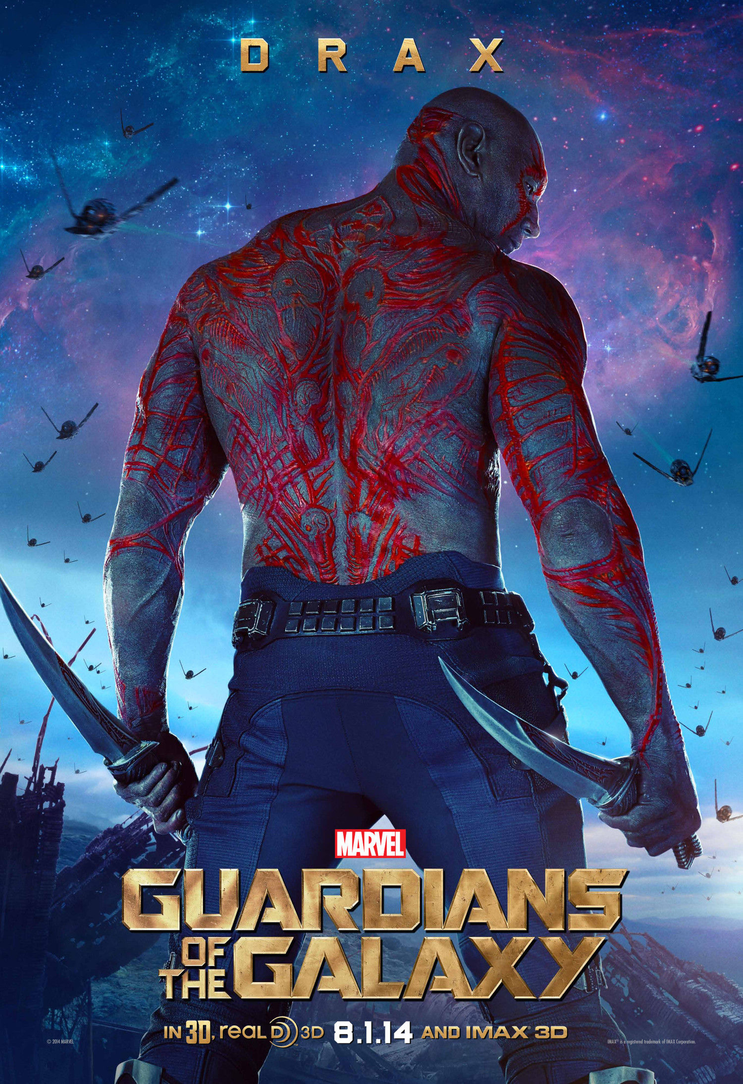 Drax And Star Lord In New Guardians Of The Galaxy Posters