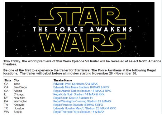 Star Wars Regal Trailer