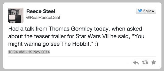 The Force Awakens Trailer Tweet