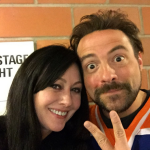 Shannon Doherty and Kevin Smith