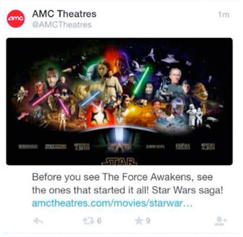 AMC Star Wars Tweet